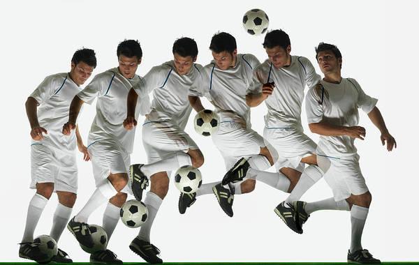 Photograph - Footballer Performing Ball Flick by John Lamb