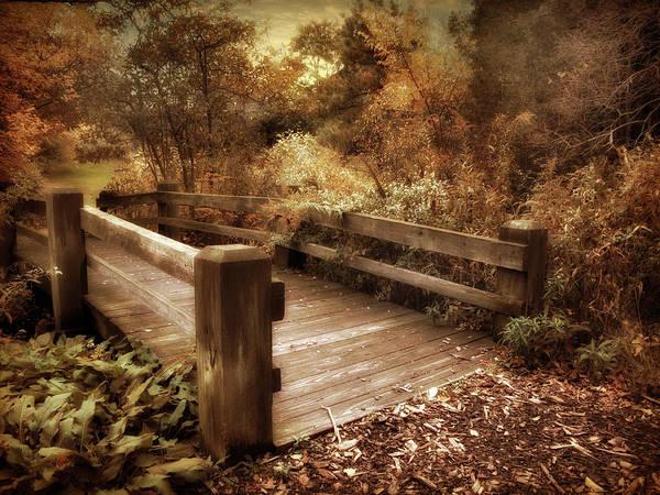 Footbridge Photograph - Footbridge Crossing by Jessica Jenney