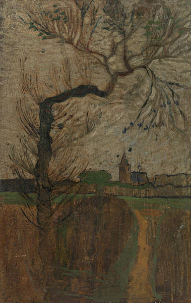 Painting - Footpath With Willow And Village On The Horizon by Richard Roland Holst