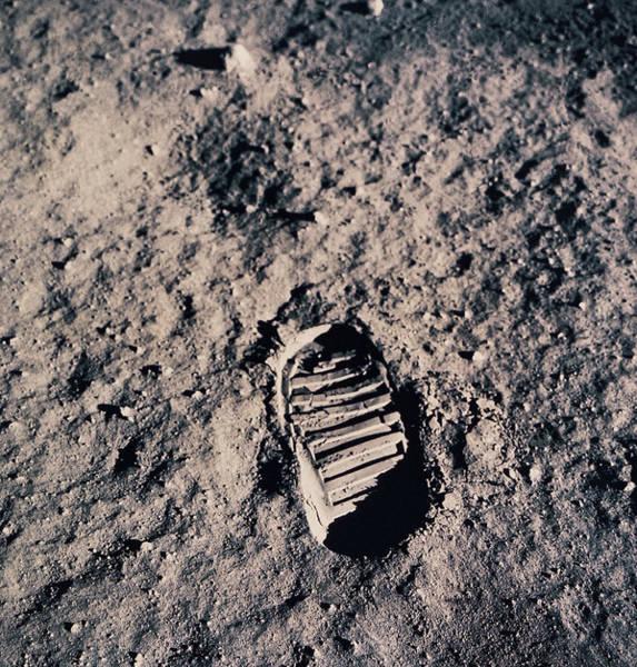 Dust Photograph - Footprint On Lunar Surface by Stockbyte