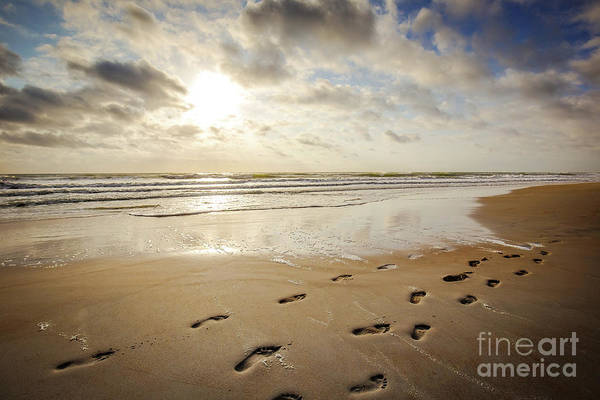 Ormond Beach Photograph - Footprints In The Sand by Joan McCool