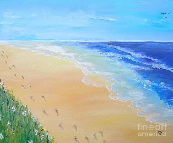 Painting - Footprints In The Sand by Karen Jane Jones