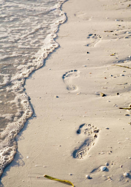 Vacation Time Photograph - Footprints In The Sand by Visualfield