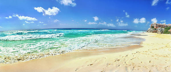 Wall Art - Photograph - Footprints On The Beach, Cancun, Mexico by Panoramic Images