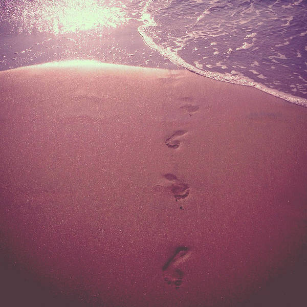 Goa Photograph - Footsteps In The Sand by Seiphotos