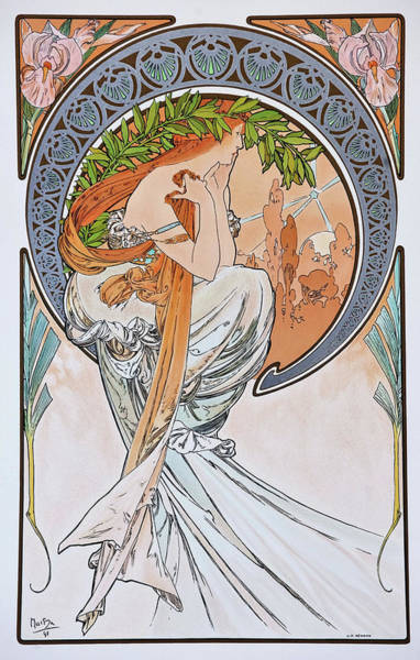 Alfons Mucha Painting - For Art, Painting - Digital Remastered Edition by Alfons Maria Mucha