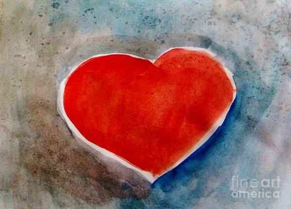 Wall Art - Painting - For My Love  by Vesna Antic