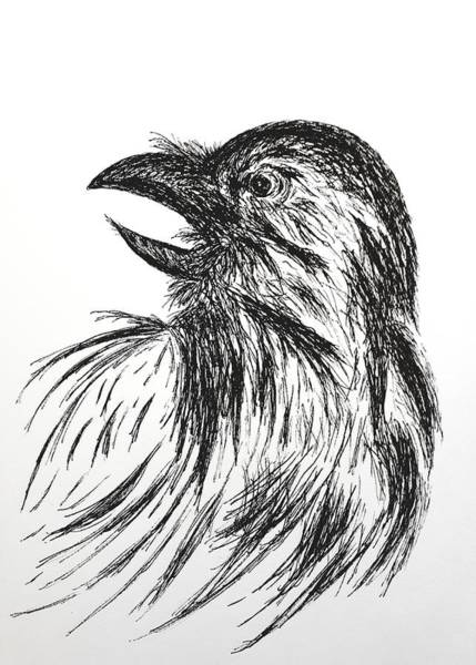 Wall Art - Drawing - For Poe by Abstract Angel Artist Stephen K