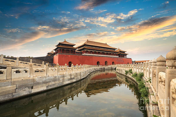 Travel Destinations Wall Art - Photograph - Forbidden City In Beijing,china by Chuyuss