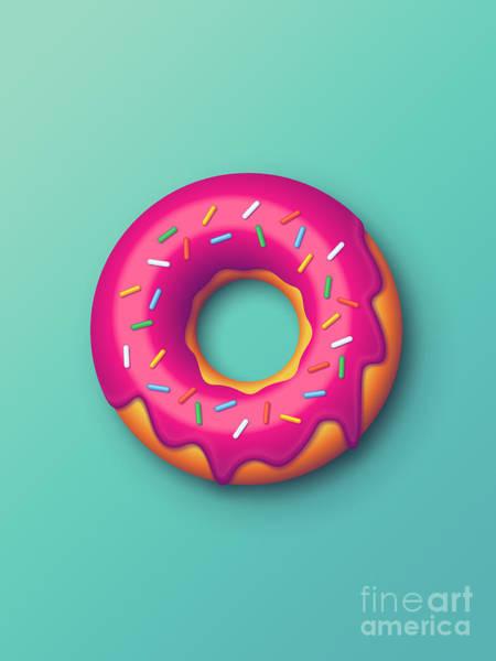 Wall Art - Digital Art - Forbidden Doughnut - Mint by Ivan Krpan