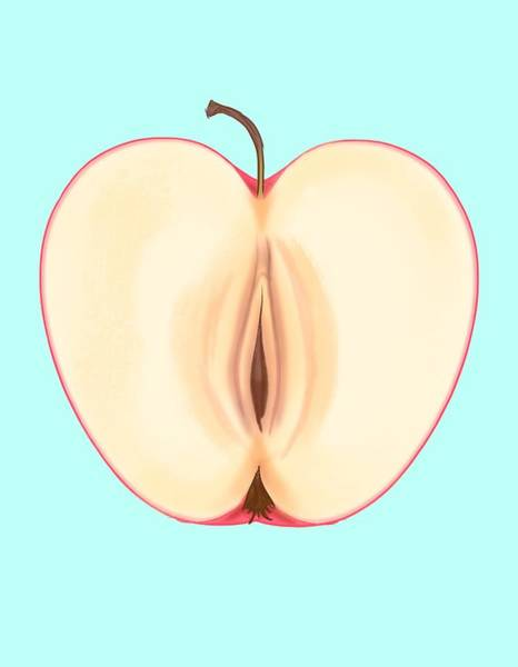Wall Art - Drawing - Forbidden Fruit by Ludwig Van Bacon