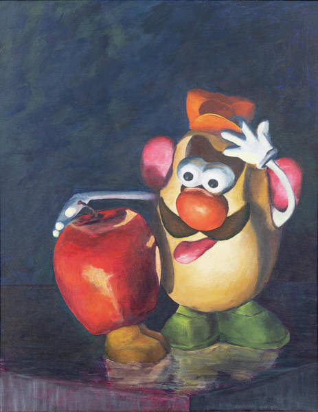 Painting - Forbidden Fruit by Nancy Strahinic