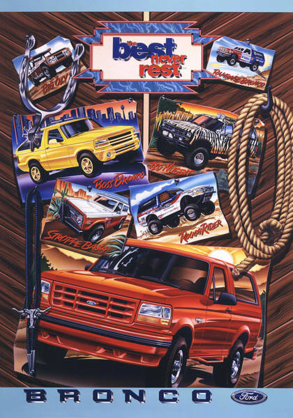 Wall Art - Painting - Ford Bronco Poster by Garth Glazier