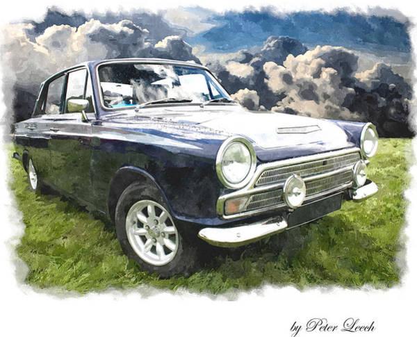 Digital Art - Ford Cortina 1 by Peter Leech