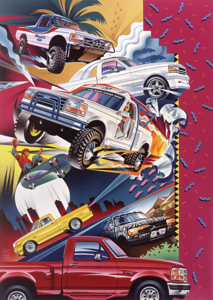 Wall Art - Painting - Ford F-150 Truck Painting by Garth Glazier