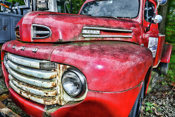 Wall Art - Photograph - Ford F4 Tow Front Grill by Paul Ward
