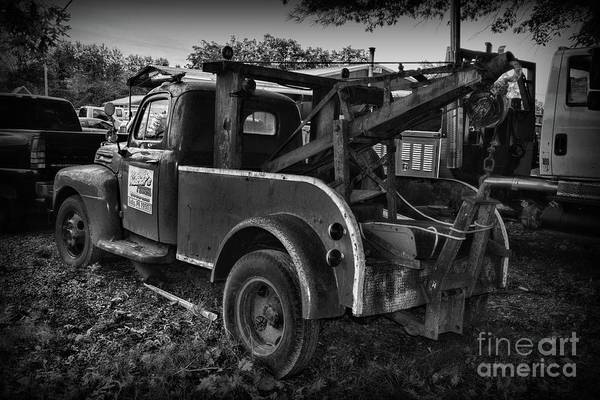 Wall Art - Photograph - Ford F4 Tow The Truck Business End Black And White by Paul Ward