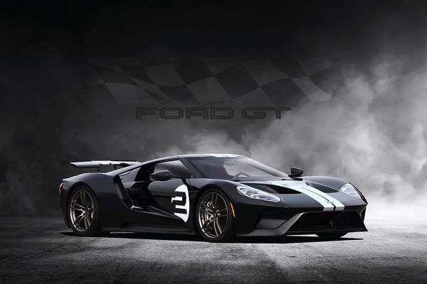 Collector Digital Art - Ford Gt Dreamscape by Peter Chilelli