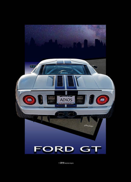 Photograph - Ford Gt - Into The City by Steven Milner