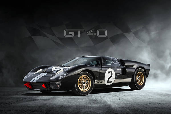 Wall Art - Digital Art - Ford Gt40 1966 by Peter Chilelli