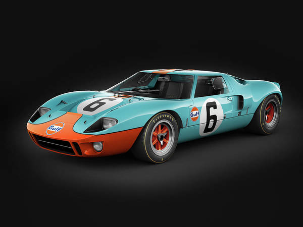 Wall Art - Photograph - Ford Gt40 - Challenger by Marc Orphanos