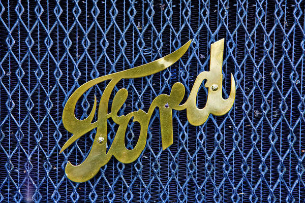 Intellectual Photograph - Ford Logo by Diane D Miller
