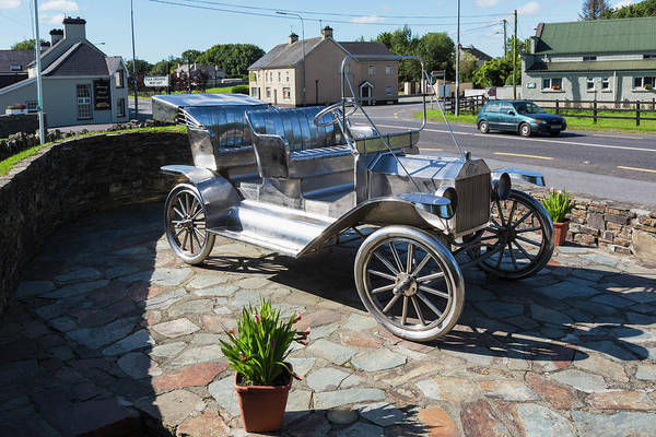 Wall Art - Photograph - Ford Model T Monument, Ireland by Ken Welsh