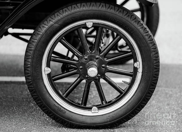 Photograph - Ford Model T Wheel by Dale Powell