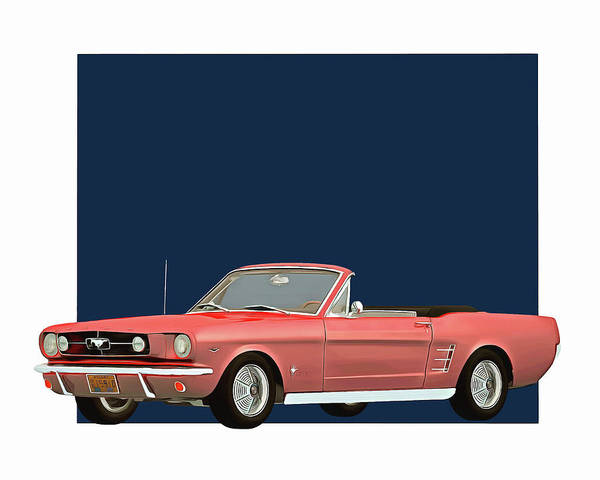 Digital Art - Ford Mustang 1964 Convertible by Jan Keteleer