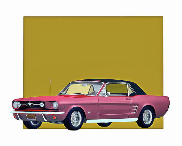 Digital Art - Ford Mustang 1964 Retracted Roof by Jan Keteleer