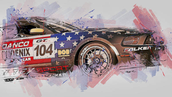 Painting - Ford Mustang Boss 302r1 - 12 by Andrea Mazzocchetti