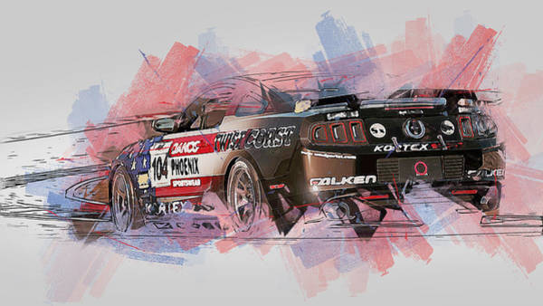 Painting - Ford Mustang Boss 302r1 - 13 by Andrea Mazzocchetti