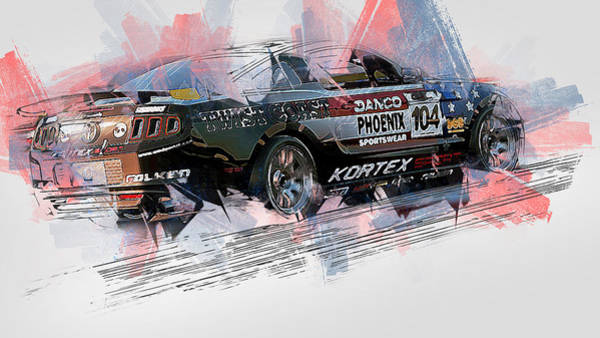 Painting - Ford Mustang Boss 302r1 - 14 by Andrea Mazzocchetti