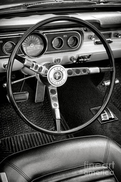 Wall Art - Photograph - Ford Mustang Dashboard  by Olivier Le Queinec