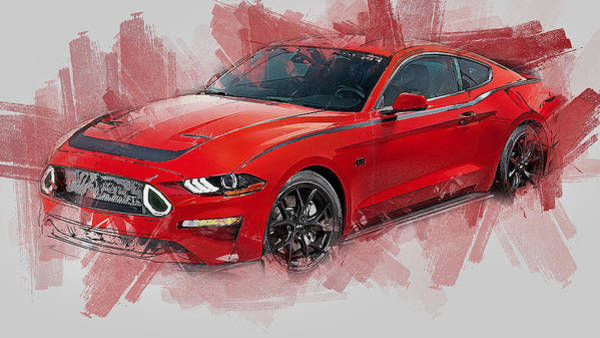 Painting - Ford Mustang Rtr 2019 - 01 by Andrea Mazzocchetti