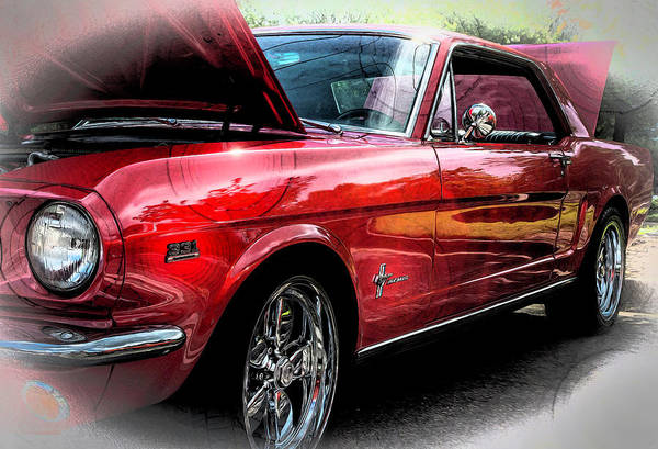 Photograph - Ford Mustang Side Angle by Keith Smith