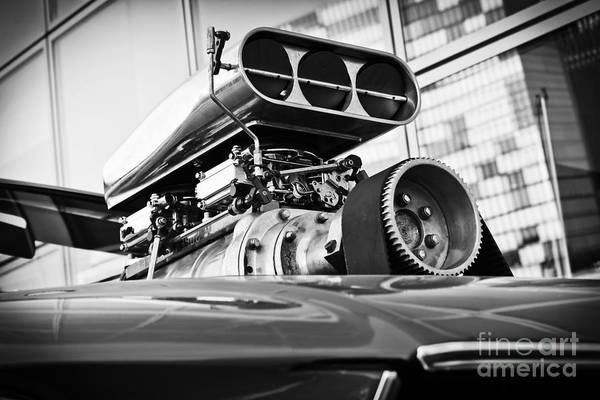Ford Mustang Vintage Motor Engine Art Print