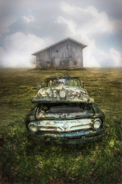 Photograph - Ford Pickup In The Country Painting by Debra and Dave Vanderlaan