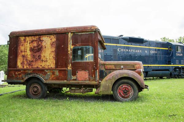 Heavy Duty Truck Wall Art - Photograph - Ford Railway Truck by Jurgen Lorenzen