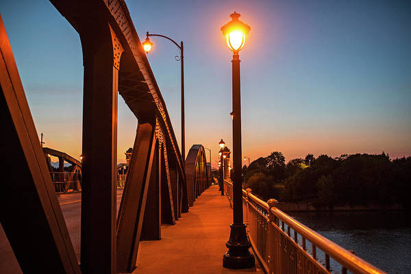 Photograph - Ford Street Bridge At Dusk Rochester Ny Pathway by Toby McGuire