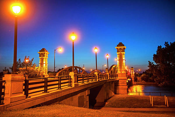 Photograph - Ford Street Bridge At Dusk Rochester Ny by Toby McGuire