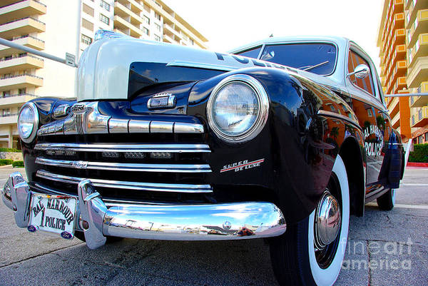 Wall Art - Photograph - Ford Super Deluxe Bal Harbour Police by Zal Latzkovich