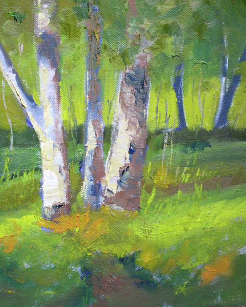 Wall Art - Painting - Forest Color Landscape by Nancy Merkle