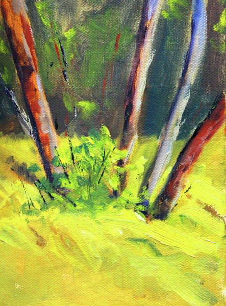 Wall Art - Painting - Forest Copse by Nancy Merkle