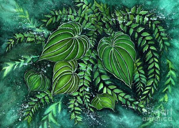 Wall Art - Painting - Forest Jubilee - Forest Floor  by Janine Riley