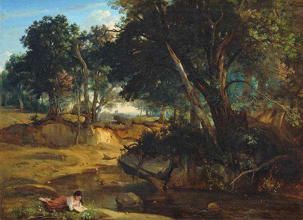Wall Art - Painting - Forest Of Fontainebleau - Digital Remastered Edition by Jean-Baptiste Camille Corot
