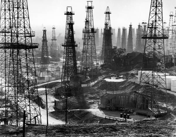 Photograph - Forest Of Wells, Rigs And Derricks by Andreas Feininger