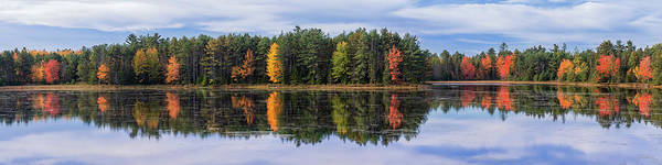Wall Art - Photograph - Forest Reflecting In Lake In Autumn by Anand Goteti