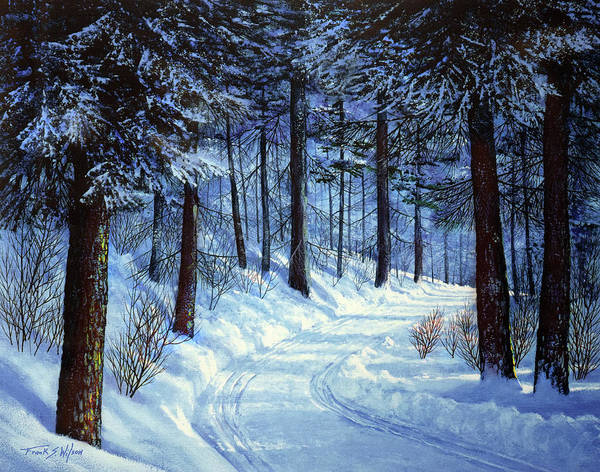 Painting - Forest Road by Frank Wilson