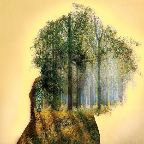 Wall Art - Painting - Forest Woman by ArtMarketJapan